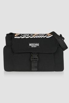 Moschino Kids Baby Unisex Black Changing Bag