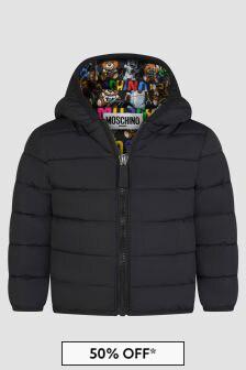 Moschino Kids Baby Unisex Black Jacket