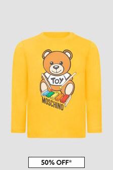 Moschino Kids Baby Boys Yellow T-Shirt