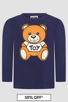 Moschino Kids Baby Boys Navy T-Shirt