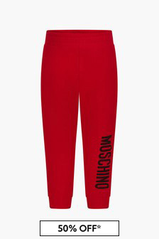 Moschino Kids Baby Boys Red Joggers