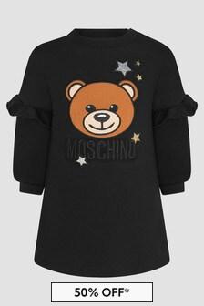 Moschino Kids Baby Girls Black Dress