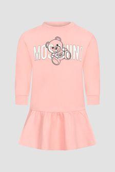 Moschino Kids Baby Girls Pink Dress