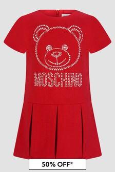 Moschino Kids Baby Girls Red Dress