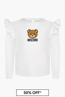 Moschino Kids Baby Girls White T-Shirt