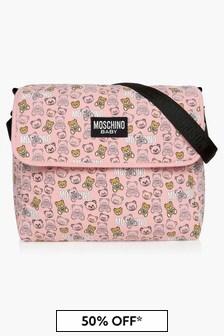 Moschino Kids Baby Girls Pink Changing Bag