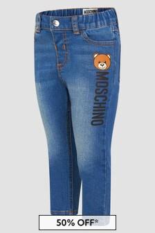 Moschino Kids Baby Unisex Blue Jeans