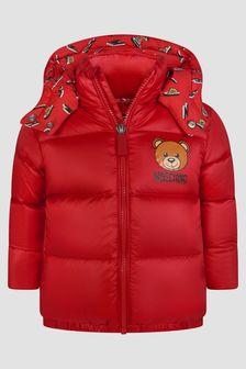 Moschino Kids Baby Boys Red Jacket
