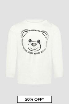 Moschino Kids Baby Unisex White T-Shirt