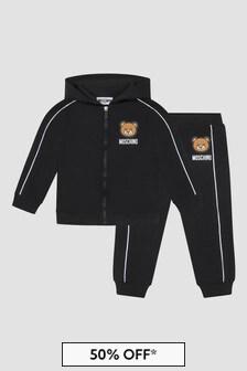 Moschino Kids Baby Black Tracksuit