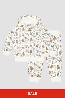Moschino Kids Baby Unisex White Tracksuit