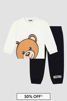 Moschino Kids Baby Unisex White Set