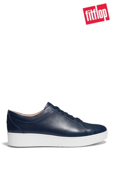 FitFlop Blue Rally Leather Trainers