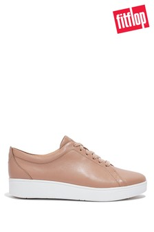 FitFlop Nude Rally Leather Trainers