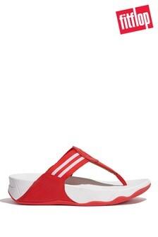 FitFlop Red Walkstar Webbing Toe-Post Sandals