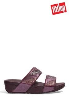 FitFlop Purple Mina Glitter-Patchwork Slides