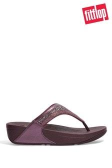 FitFlop Purple Lulu Glitter Mix Toe Post Sandals