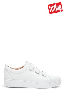 FitFlop White Rally Strap Leather Shoes
