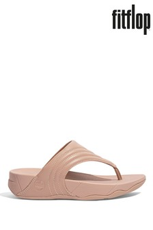 FitFlop Nude Walkstar Leather Toe-Post Sandals
