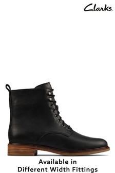 Clarks Black Leather Clarkdale Lace Boots