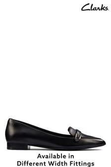 Clarks Black Leather Laina15 Buckle Shoes