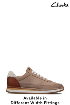 Clarks Sand Combi CraftRun Lace Shoes