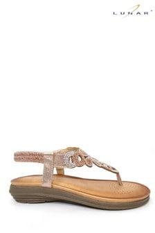 Lunar Pink Edwina Gemstone Sandals