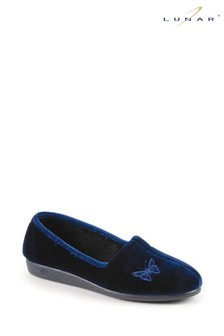 Lunar Blue Butterfly Slippers