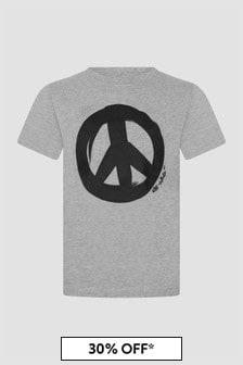 Off White Kids Grey T-Shirt