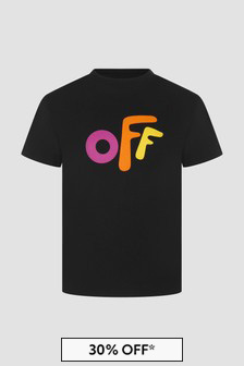 Off White Kids Black T-Shirt