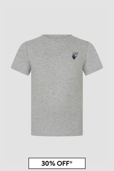 Off White Boys Grey T-Shirt