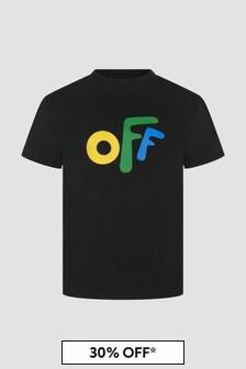 Off White Boys Black T-Shirt