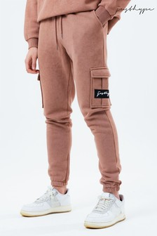Hype. Mens Brown Vintage Cargo Joggers