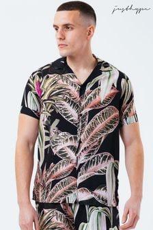 Hype. Black Mens Resort Shirt