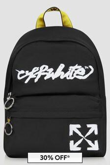 Off White Unisex Black Bag