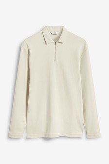 Boxy Fit Zip Polo
