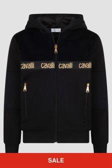 Roberto Cavalli Boys Black Sweat Top