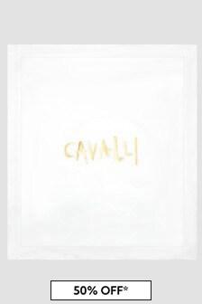 Roberto Cavalli Baby White Blanket