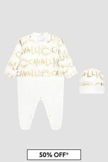 Roberto Cavalli Baby White Sleepsuit
