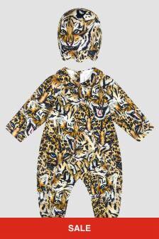 Roberto Cavalli Baby Girls Leopard Print Sleepsuit