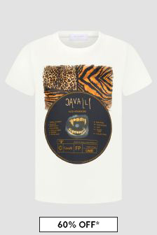 Roberto Cavalli Boys White T-Shirt