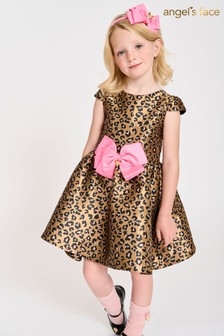 Angels Face Gold & Black Leopard Print Tracey Dress