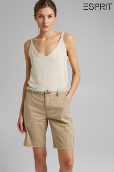 Esprit Stretch Cotton Bermuda Shorts