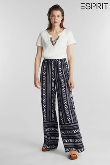 Esprit Wide Trousers In LENZING™ ECOVERO™