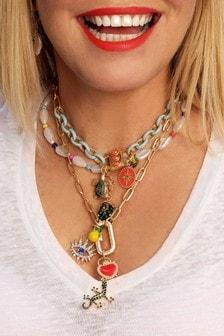 Kate Thornton Gold Tone Multi-Layered Festival Charm Necklace