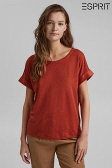 Esprit Orange Linen T-Shirt