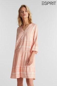 Esprit Orange Print Dress