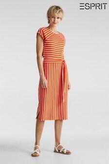 Esprit Orange Jersey Dress