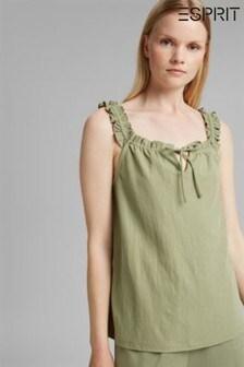 Esprit Green Drawstring Sun Top