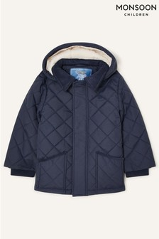 Monsoon Cord Collar Quilted Coat